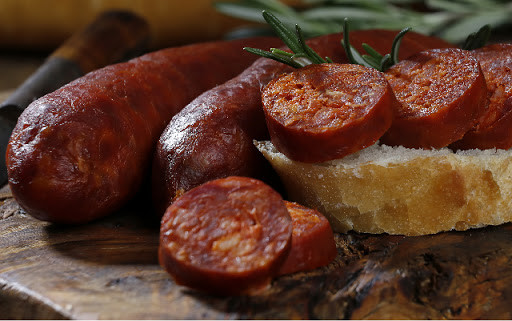 Chorizo tradicional asturiano